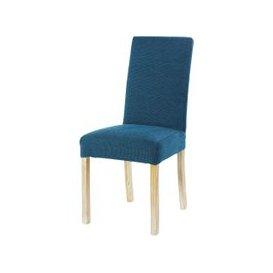image-Peacock Blue Velvet Chair Cover