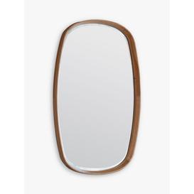 image-Keaton Oval Wood Frame Wall Mirror, 90 x 55cm