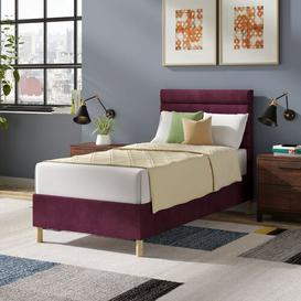 image-Premium Beaumere Upholstered Bed Frame Mercury Row Size: Super King (6'), Upholstery Colour: Cosmic, Upholstery Material: Velvet