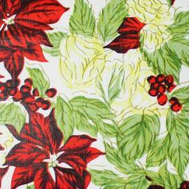 "image-""Christmas PEVA Tablecloth - Floral 50 x 90"""""""