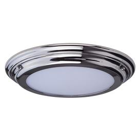 image-Elstead WELLAND/F PC Welland Medium Bathroom Flush Ceiling Light In Polished Chrome