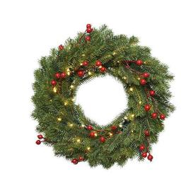 image-40cm Realistic LED Chippewa Christmas Wreath