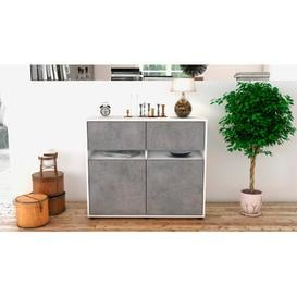image-Reddy Sideboard Mercury Row Body and front colour: White/Concrete