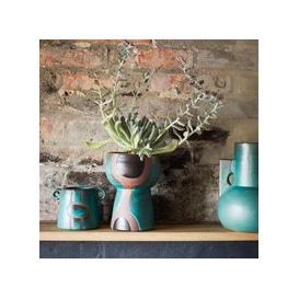 image-Cerulean Abstract Terracotta Planter