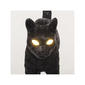 image-Seletti Jobby the Cat Lamp Black