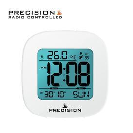 image-Precision Radio Controlled Digital Alarm Clock - White