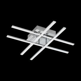 image-Eglo 95568 Lasana 1 LED Flush Ceiling/Wall Criss Cross Light In Chrome - Lumens: 2520