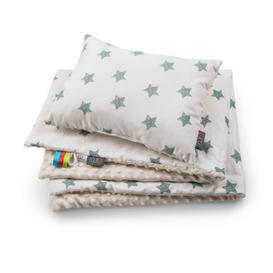 image-Willa Green Stars Baby Blanket Set Fj├╕rde & Co
