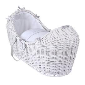 image-Silver Lining Moses Basket Clair De Lune Colour: White