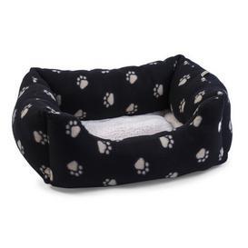 image-Medium Snugpaws Square Dog Bed Black