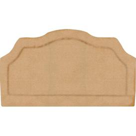 image-Lathbury Upholstered Headboard ClassicLiving Size: Small Double, Colour: Taupe, Fabric: Faux Suede