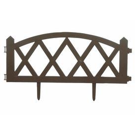 image-Trellis Garden Fence (0.6m x 0.3m) Symple Stuff Finish: Brown