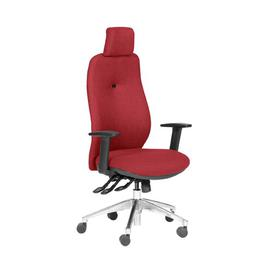 image-Budde Ergonomic Desk Chair Ebern Designs Frame Colour: Black/Chrome, Upholstery Colour: Red