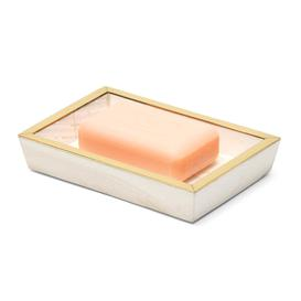 image-Pigeon and Poodle - Palermo II Faux Clamstone Soap Dish - Pink