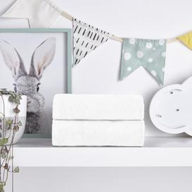 image-Safe Nights Crib Fitted Sheets 2 Pack Silentnight Colour: White, Size: 28cm W x 90cm L