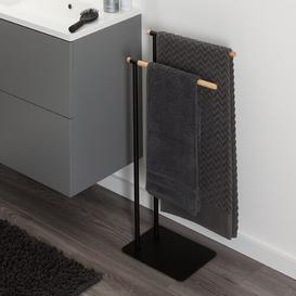 image-Brix Metal Free Standing Towel Rack Sealskin Finish: Black