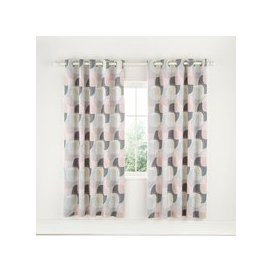 "image-Helena Springfield Arken Lined Curtains 66"" x 72\"", Blush"