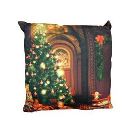 image-Christmas Print Cushion Christmas Tree
