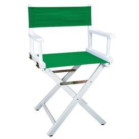 image-Lydell Folding Director Chair Dakota Fields Colour (Fabric): Green, Colour (Frame): White