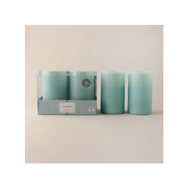 image-Set of 2 Seagrass Scented LED Candles Clear