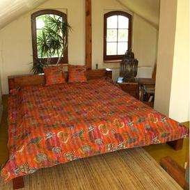 image-Sourabhi Bedspread Ebern Designs Colour: Orange