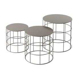 image-Reton 3 Piece Nest of Tables Atipico Colour: Beige Grey