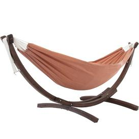 image-Natalia Double Hammock with Stand Freeport Park Colour: Coral