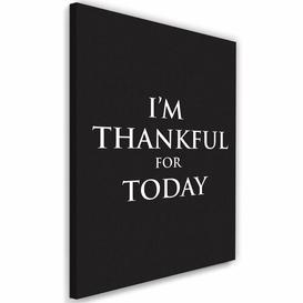 image-'Cover - Gratitude' - Wrapped Canvas Typography Print Happy Larry