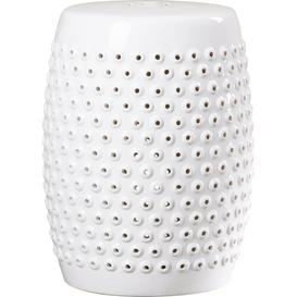 image-Queens Garden Stool Mercury Row Finish: White