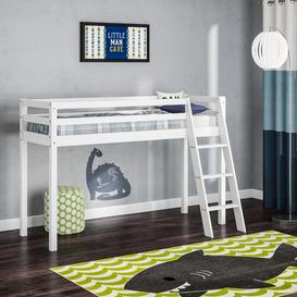 image-Single Mid Sleeper Bed Just Kids Colour: Brilliant White