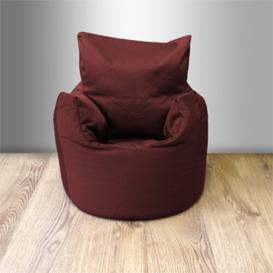 image-Toddler Cotton Twill Bean Bag Lounger Ebern Designs Upholstery Colour: Wine