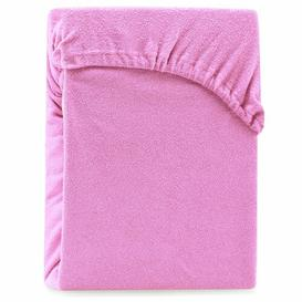 image-Hester 130 Thread Count Fitted Sheet Symple Stuff Size: Double (4'6), Colour: Rosa