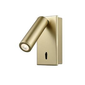 image-W076 Adjustable Recessed LED Wall Reading Light In Matt Gold