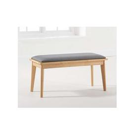 image-Mark Harris Seth Oak and Grey Dining Bench