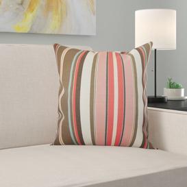 image-Eucptus 100% Cotton Cushion Cover Brayden Studio Size: 40 x 40cm, Colour: Brown/Pink