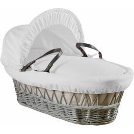image-Dream Moses Basket with Bedding Clair De Lune Colour: White
