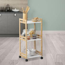 image-Kaius Kitchen Trolley with Manufactured Wood Top Belfry Kitchen