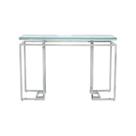 image-Fairbanks Console Table - Glass and Chrome