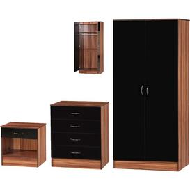 image-Luke 3 Piece Bedroom Set Riley Ave. Colour (Body/Front): Walnut/Black