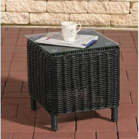 image-Redmayne Aluminium and Rattan Side Table Sol 72 Outdoor Colour: Black
