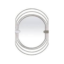 image-Salford Contemporary Wall Mirror Oval In Silver