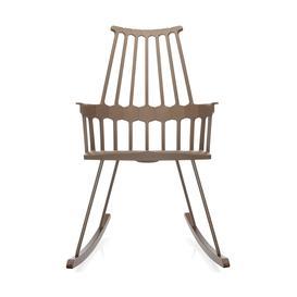 image-Kartell Comback Rocking Chair Hazelnut/Wood