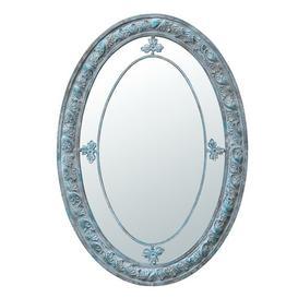 image-Oval Margin Accent Mirror Fleur De Lis Living
