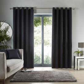 image-Molly Black Eyelet Curtains Black