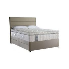 image-Sealy - Latex Box Top 2800 Divan Set - Latex - King Size - Beige