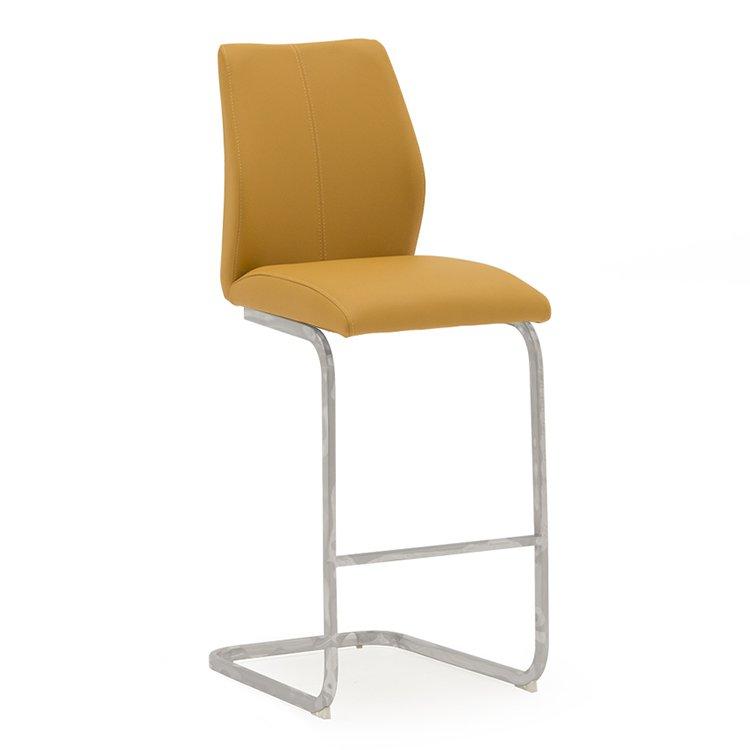 image-Vida Living Elis Bar Chair Pumpkin Pair