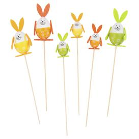image-Bag of 6 Multicoloured Rabbit Cocktail Sticks