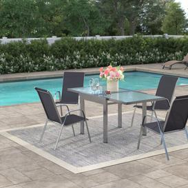 image-Lola 4 Seater Dining Set Sol 72 Outdoor