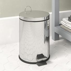 image-Stainless Steel 3 Litre Step On Bathroom Bin Wayfair Basics Colour: Silver