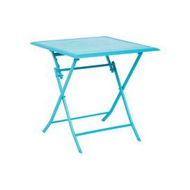 image-Telemanus Folding Aluminium Bistro Table Sol 72 Outdoor Colour: Turquoise